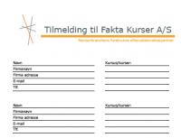 Fakta Kursers Program 2014-15