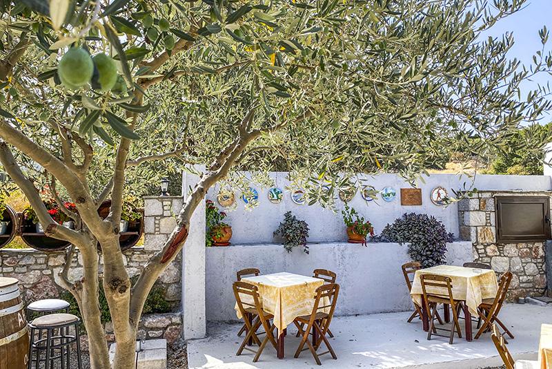 Lokal restaurant på Rhodos